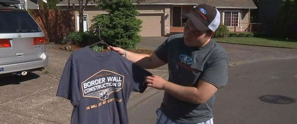 PHOTO: Addison Barnes was suspended from school after he refused to cover up a political t-shirt in Oregon.