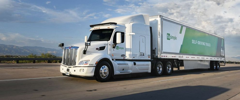PHOTO: A TuSimple self-driving trucks is seen here.