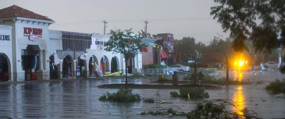 PHOTO: David Lackey took this photo of storm damage in Tulsa, Okla, Aug. 6, 2017.