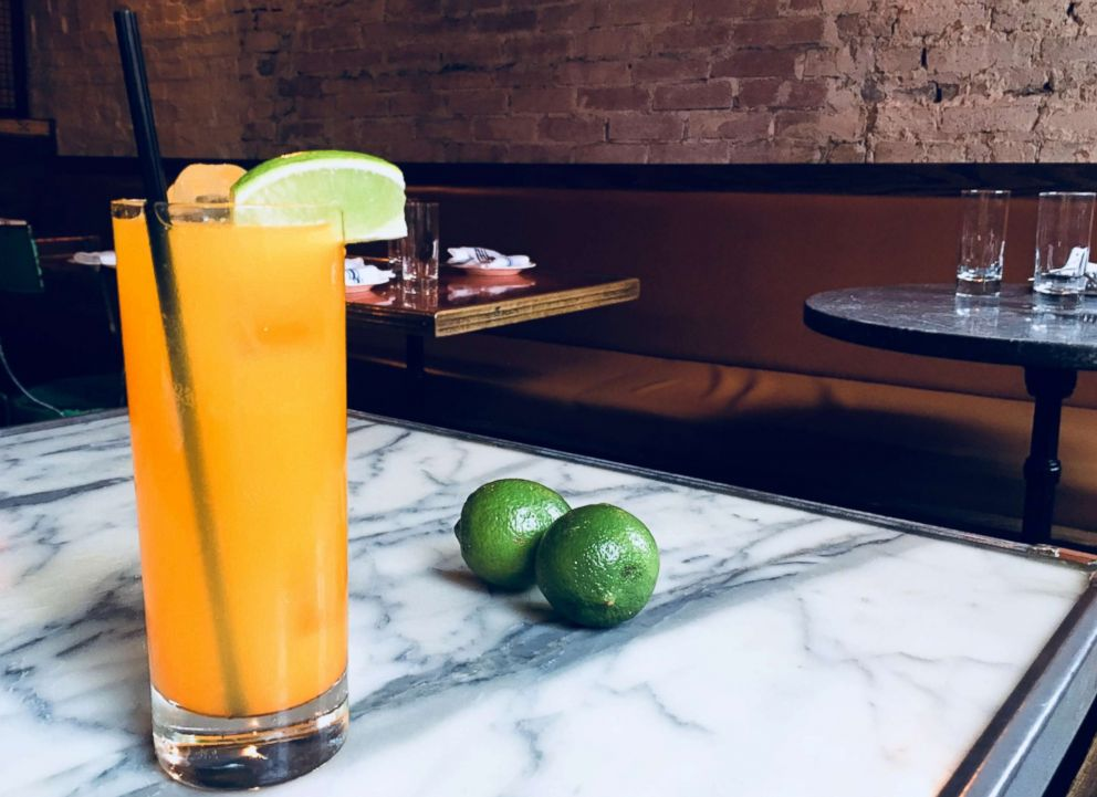 PHOTO: Bar Director Zach Cramer from New York Citys Tinys and The Bar Upstairs shared this recipe for a turmeric lime soda mocktail with GMA.