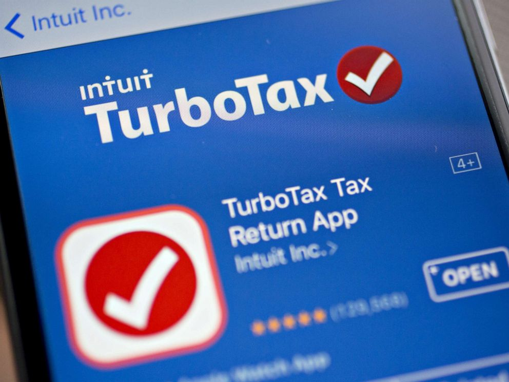 PHOTO: The Intuit Inc. TurboTax application is seen in the App Store on an Apple Inc. iPhone in Washington, D.C., Feb. 16, 2018.