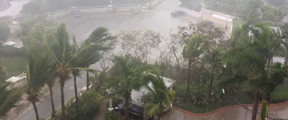 PHOTO: A storm is pictured as Hurricane Irma descends on Providenciales, in the Turks and Caicos Islands, in this still image taken from a Sept. 7, 2017 social media video.