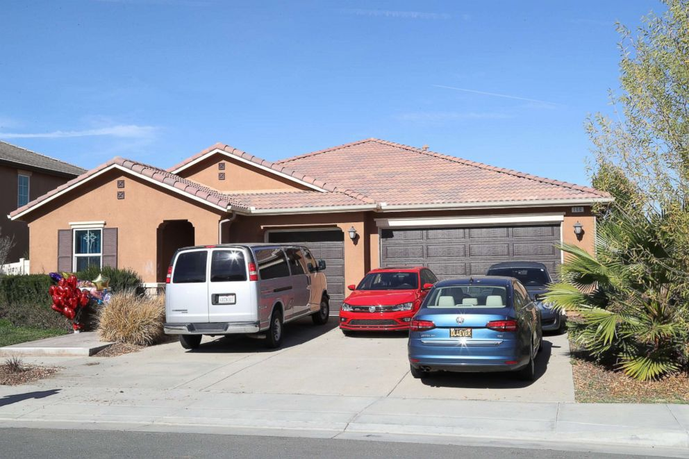 The home where malnourished children allegedly chained by their parents were found in Perris, Calif.