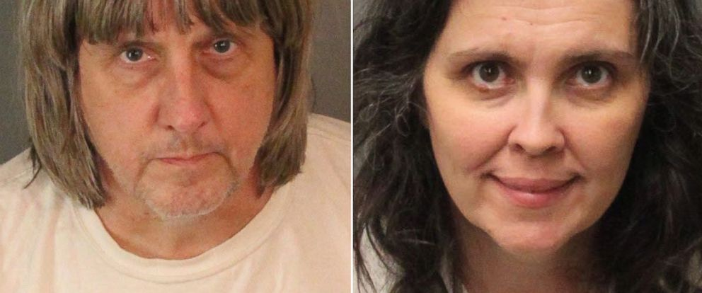 PHOTO: Mugshots of David Turpin and Louise Turpin of Perris, Calif., provided by the Riverside County Sheriffs Department, Jan. 15, 2018.