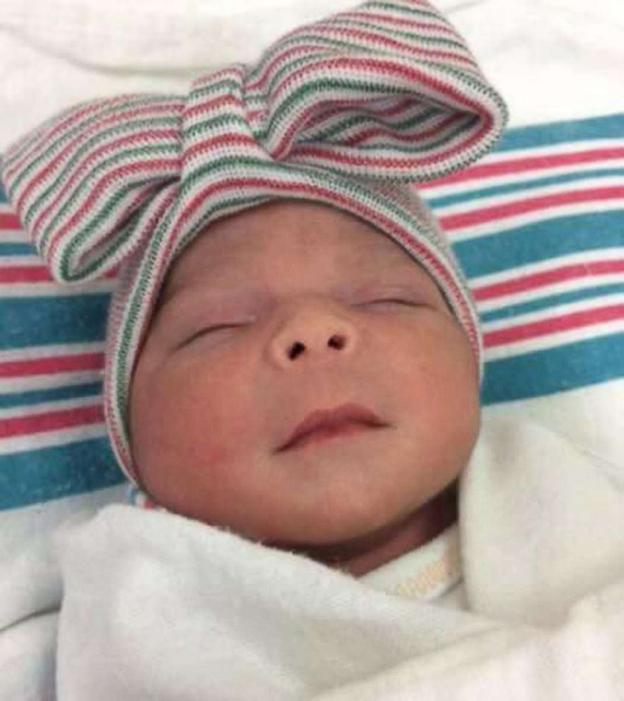 PHOTO: Newborn Joaquin Ontiveros was born at 11:58 p.m. on New Years Eve, while his sister, Aitana de Jesus, (pictured) was born in the next year at 12:16 a.m. New Years Day in Delano, Calif..