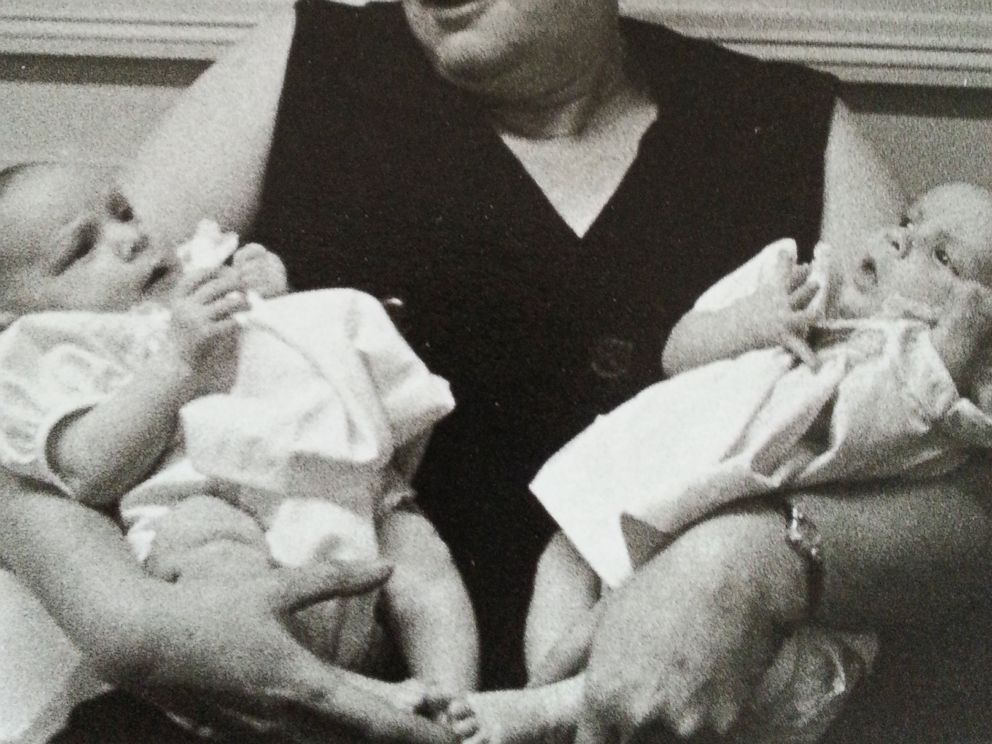 PHOTO: Sharon Morello is seen here with her twin sister in this undated family photo.