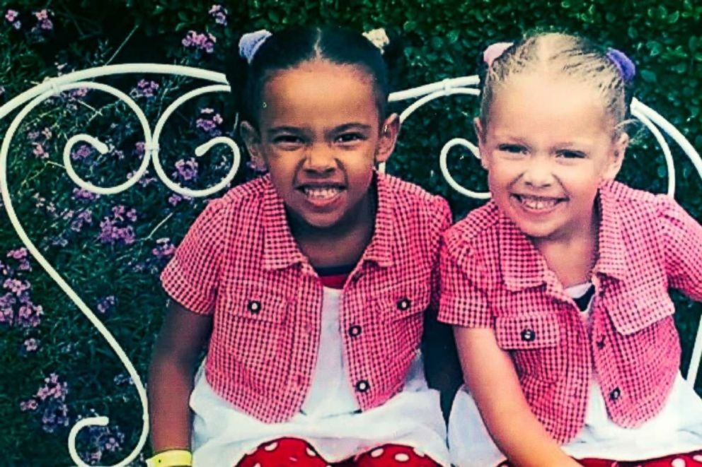 PHOTO: Millie, left, and Marcia, right sport matching outfits as kids.