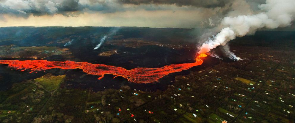 PHOTO Lava From The Kilauea Volcano Flows In And Around Pahoa Hawaii June