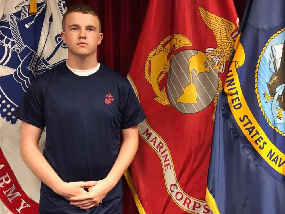 PHOTO: Tyler Jarrell, 18, poses for a photo, in this undated photo provided by the U.S. Marine Corps.