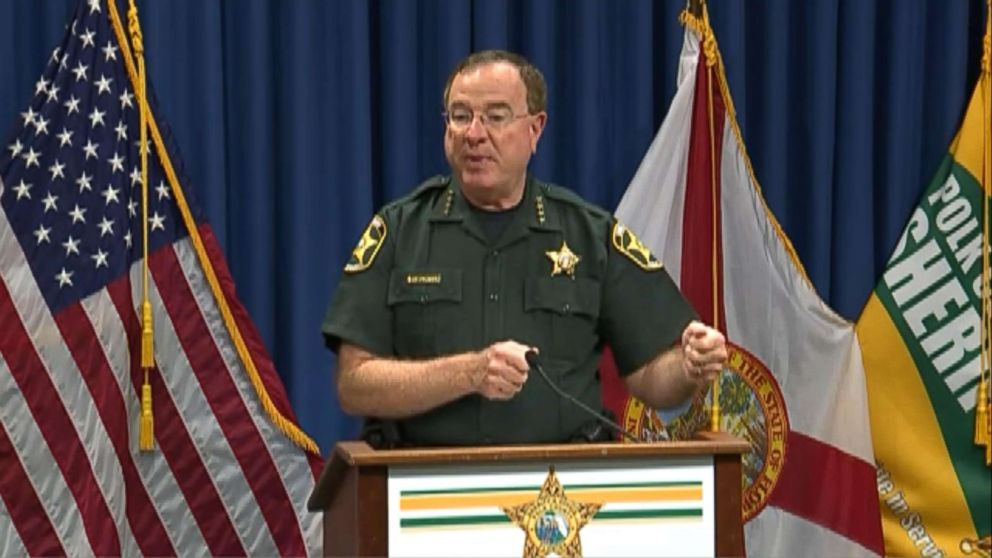 PHOTO: Polk County Sheriff Grady Judd speaks during a press conference, Aug. 29, 2018, in Winter Haven, Fla.