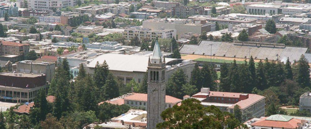 PHOTO: Aerial view of the campus of the University of California Berkeley (UC Berkeley), including the campanile clock tower in Berkeley, Calif., June 19, 2017.