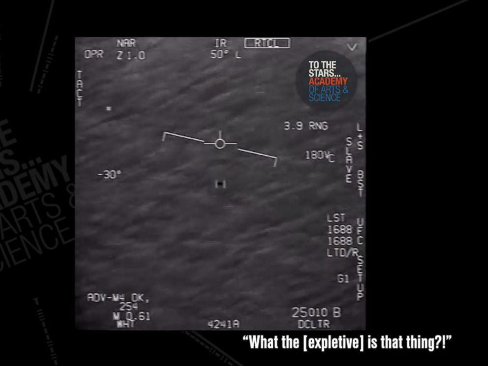 Video shows Navy pilot's close encounter with an unidentified fast-flying object