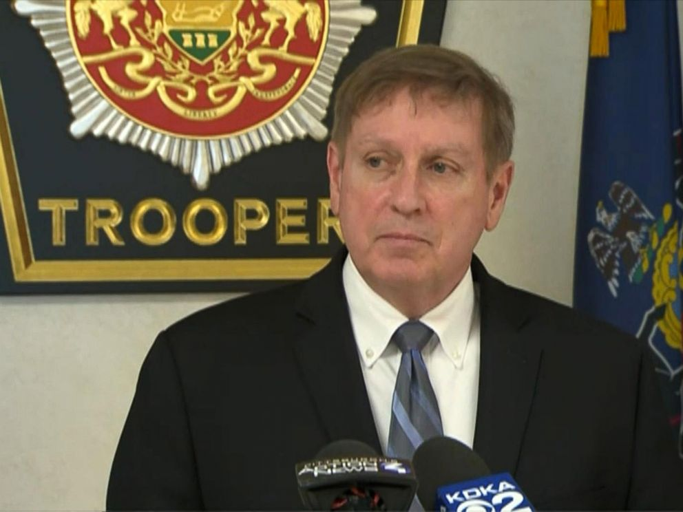 PHOTO: District Attorney Rich Bower talks to the press about a 14-year-old boy arrested and weapons seized from his home after an alleged threat to shoot other students at a Pennsylvania high school, Jan. 26, 2018.