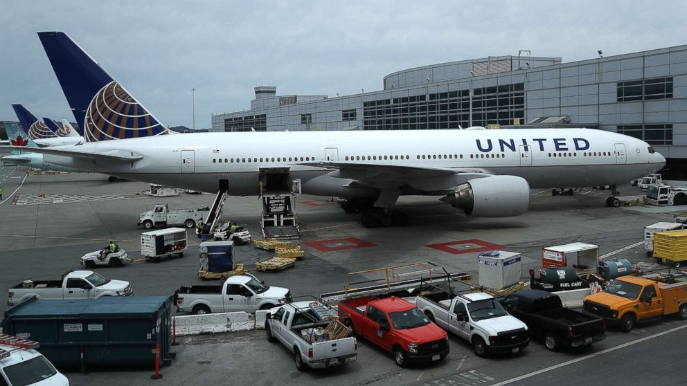United Airlines planes sit on the tarmac at San Francisco International Airport, April 18, 2018 in San Francisco, in this file photo.