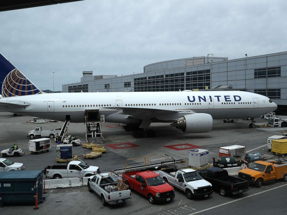 PHOTO: United Airlines planes sit on the tarmac at San Francisco International Airport, April 18, 2018 in San Francisco, in this file photo.