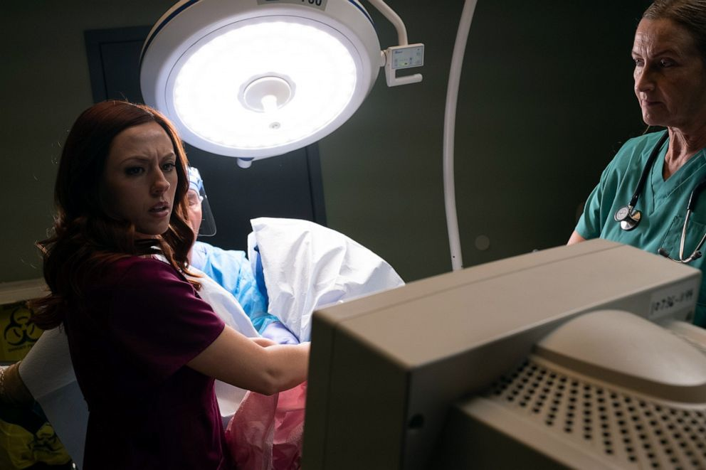 PHOTO: A scene from Unplanned starring Ashley Bratcher as former clinic director turned pro life advocate Abby Johnson