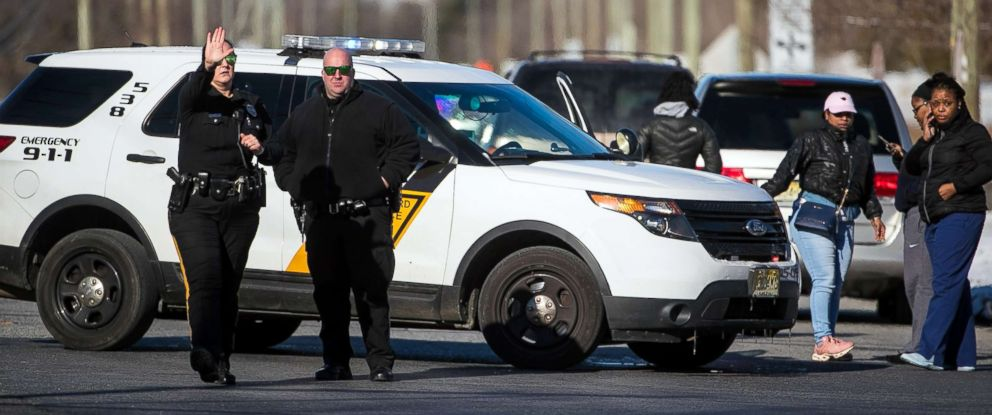 PHOTO: Police are on scene of an active shooter situation at a UPS facility in Gloucester County, N.J., Jan. 14, 2019.