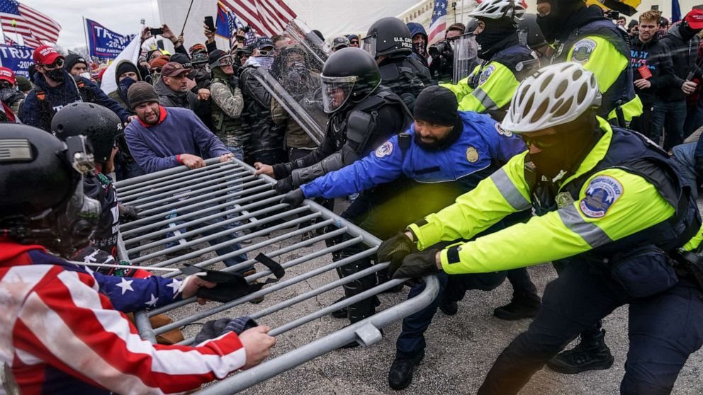 'Many' US Capitol Police officers want to retire or leave after Jan. 6 insurrection, union says