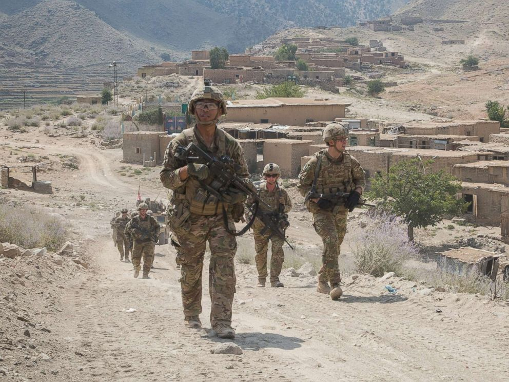 PHOTO: U.S. Paratroopers conduct a tactical ground movement through Pekha Valley, Achin District, Nangahar Province, Afghanistan, Sept. 3, 2017.