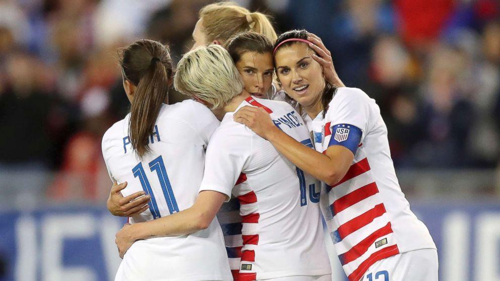 d5bd06975 US Women s National Team sues soccer s governing body for gender  discrimination on International Women s Day - ABC News