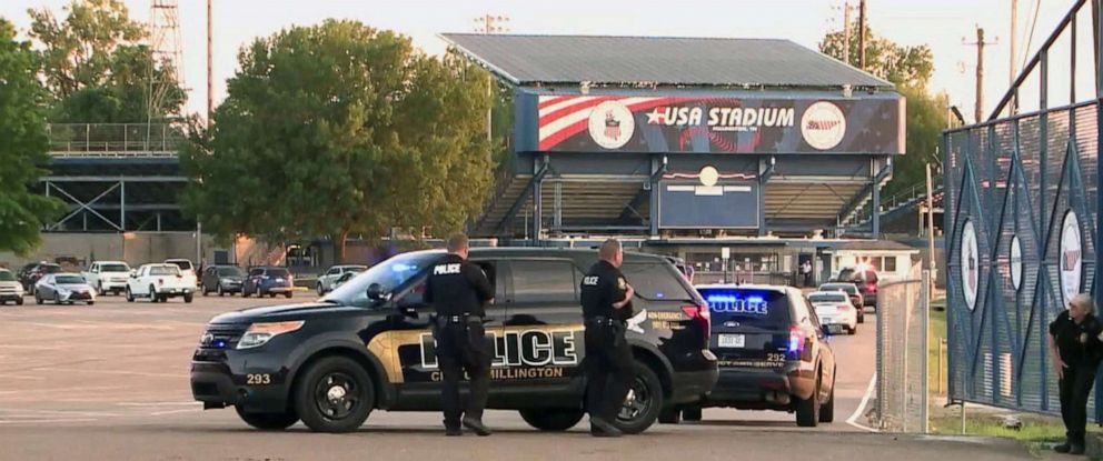 PHOTO: A woman was accidentally shot by her 8-year-old child during a baseball game at the USA Stadium, Millington, Tenn., May 14, 2019.