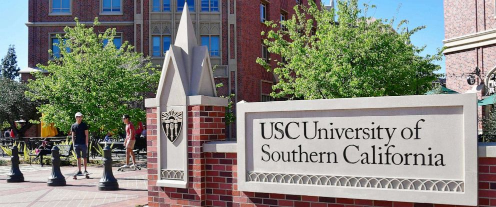 PHOTO: In this file photo taken on March 13, 2019, pictures the University of Southern California (USC) in Los Angeles.