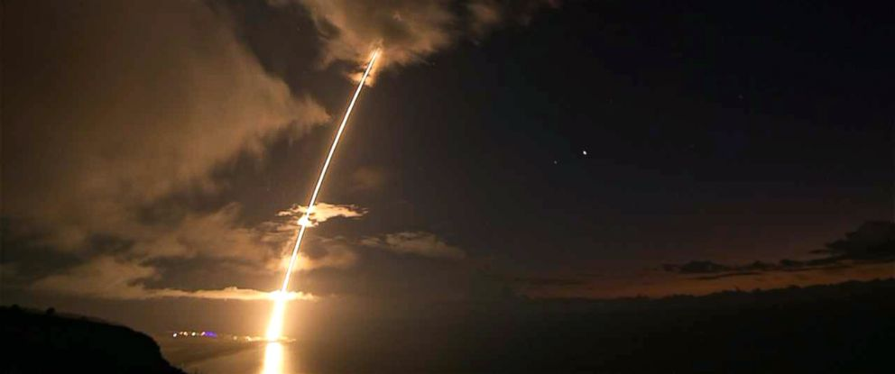 PHOTO: The Missile Defense Agency and U.S. Navy sailors aboard the USS John Paul Jones (DDG 53) successfully conducted a complex missile defense flight test off the coast of Hawaii on August 30, 2017.