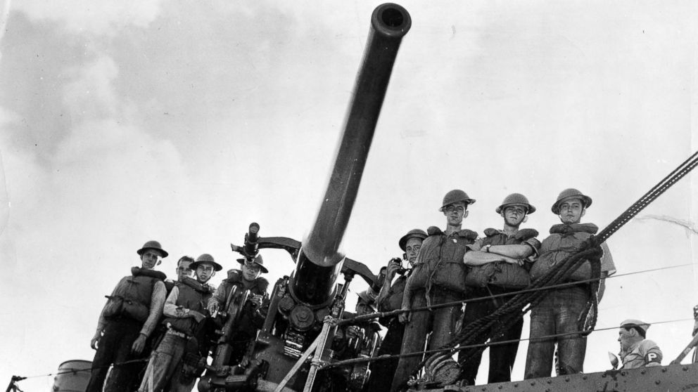 The USS Ward's number three gun and its crew-cited for firing the first shot the day of Japan's raid on Hawaii. Operating as part of the inshore patrol early in the morning of Dec. 7, 1941, this destroyer group spotted a submarine outside Pearl Harbor, opened fire and sank her.