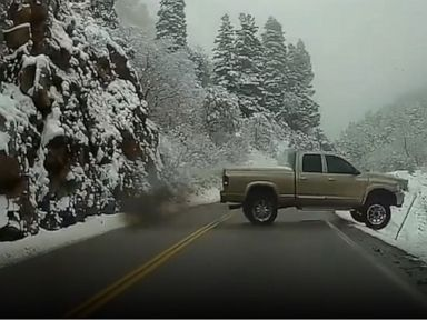 WATCH:  Pickup truck swerves, collides with oncoming vehicle in Utah