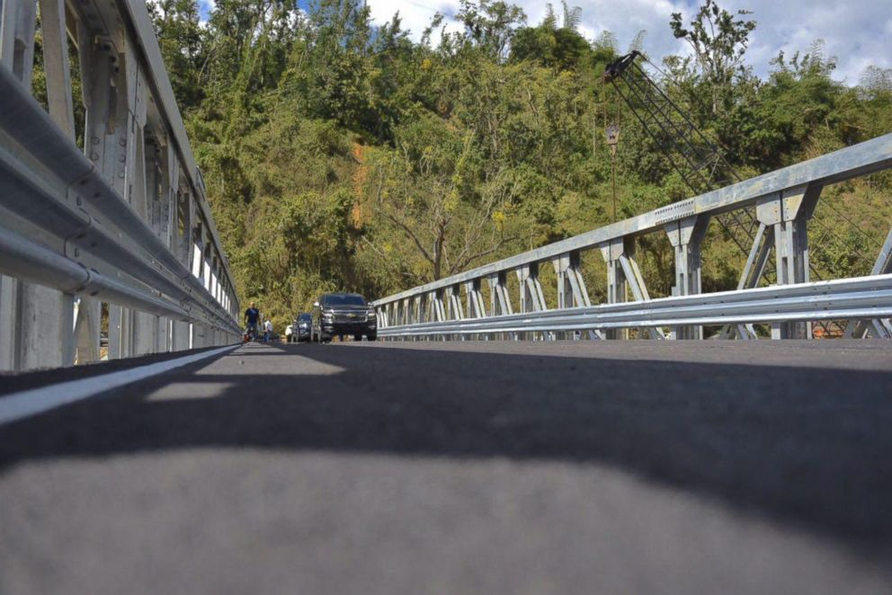 PHOTO: New bridge connecting Utuado communities opened on March 13, 2018
