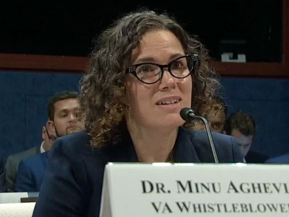 PHOTO: Dr. Minu Aghevli, a VA Whistleblower, testifies in front of the House Committee on Veterans' Affairs, Subcommittee on Oversight and Investigations in Washington, June 25, 2019.