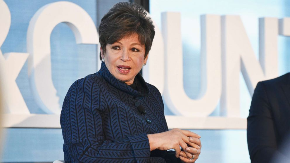 Valerie Jarrett speaks at an event at Hearst Tower on May 9, 2017 in New York.