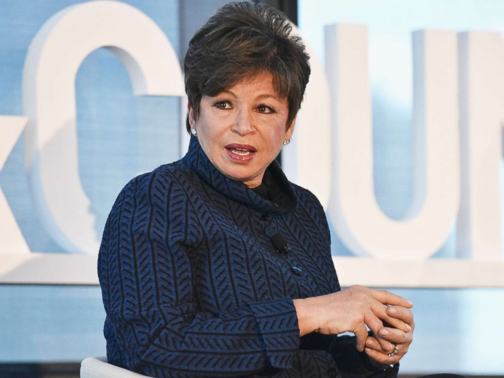 PHOTO: Valerie Jarrett speaks at an event at Hearst Tower on May 9, 2017 in New York.