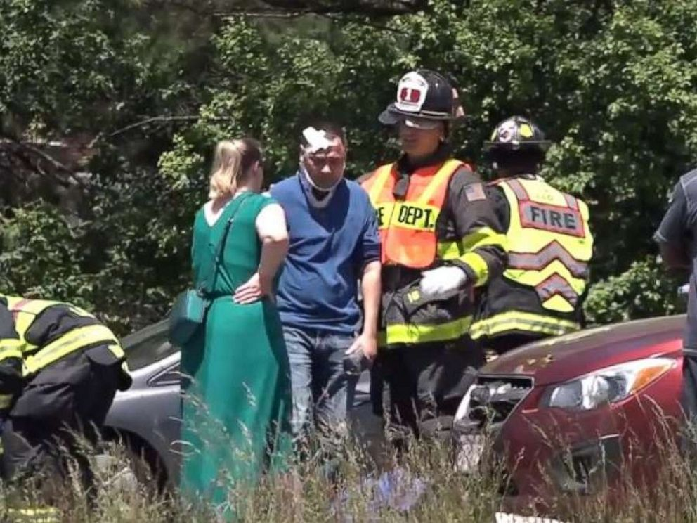 2 dead after 11 ejected from tour van in Massachusetts crash