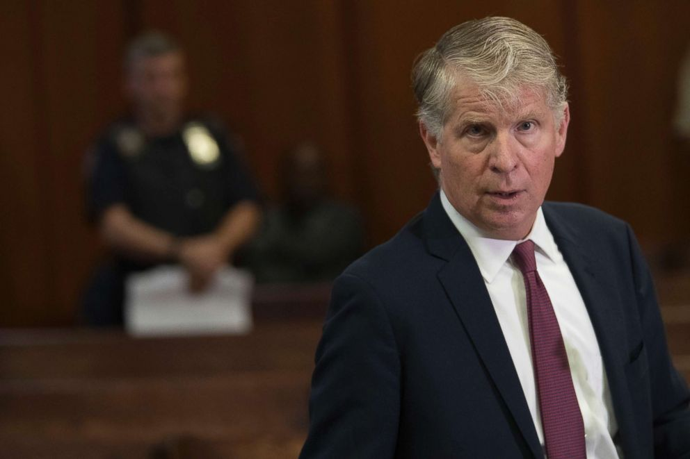 PHOTO: Manhattan District Attorney, Cyrus Vance, Jr., speaks to reporters after a hearing in Manhattan criminal court in New York, Sept. 12, 2018.