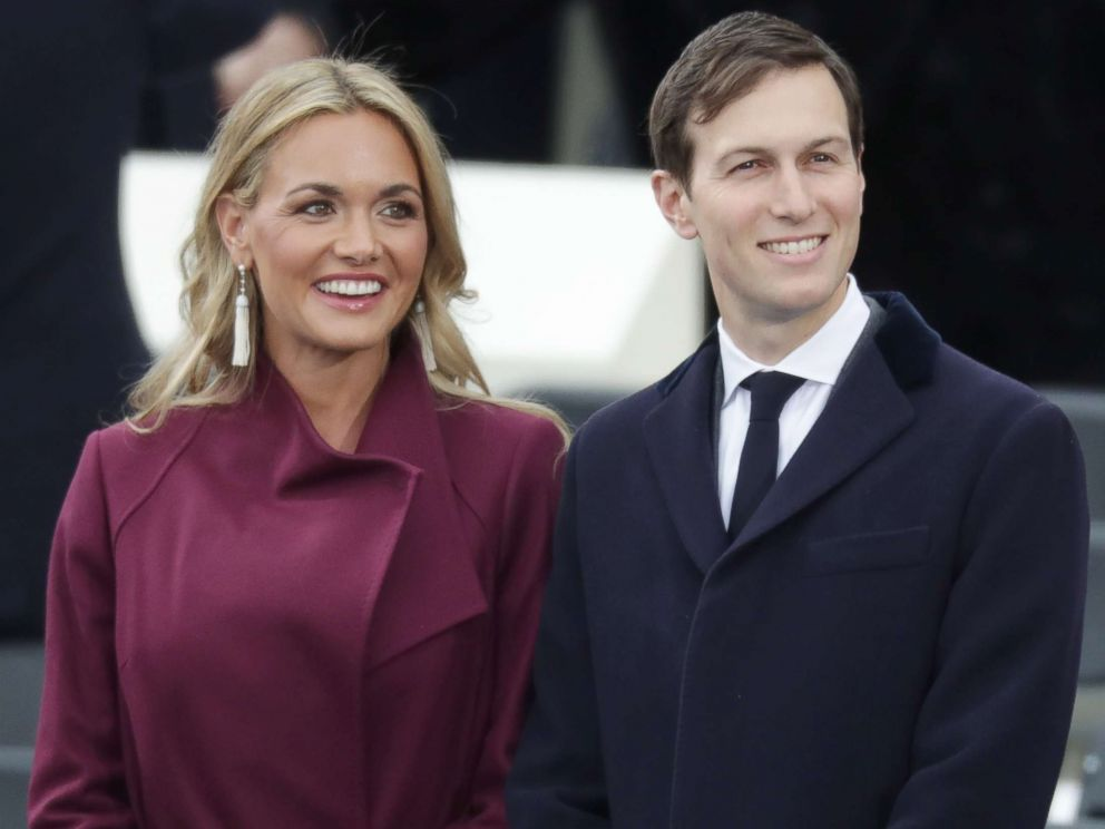PHOTO: Jared Kushner arrives with Vanessa Trump on the West Front of the Capitol for the presidential inauguration on Jan. 20, 2017 in Washington.