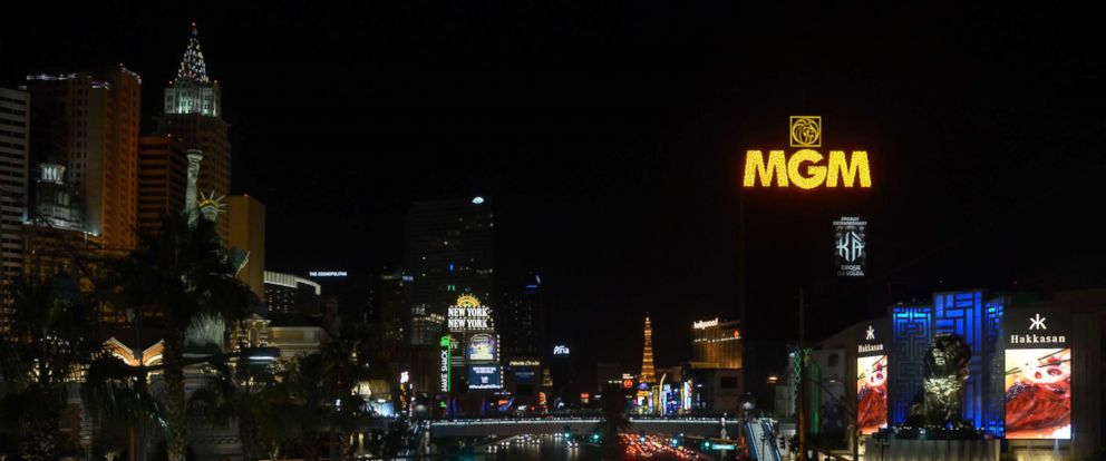 PHOTO: Las Vegas Lights Dimmed For 11 Minutes On Oct. 8, 2017 To