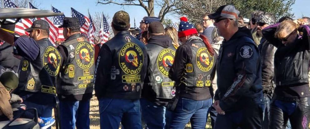 PHOTO: People attend the funeral for veteran Joseph Walker, Jan. 28, 2019, in Texas.