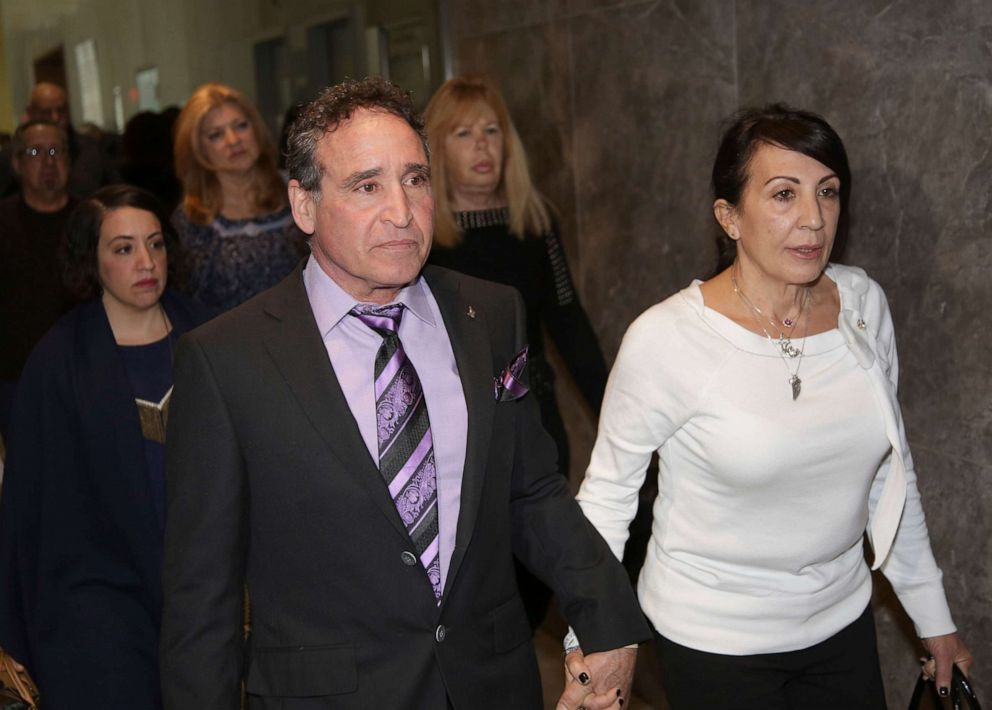 PHOTO: Phillip and Catherine Vetrano, parents of Karina Vetrano, arrive to court in New York, March 20, 2019. Chanel Lewis is accused of killing their daughter.