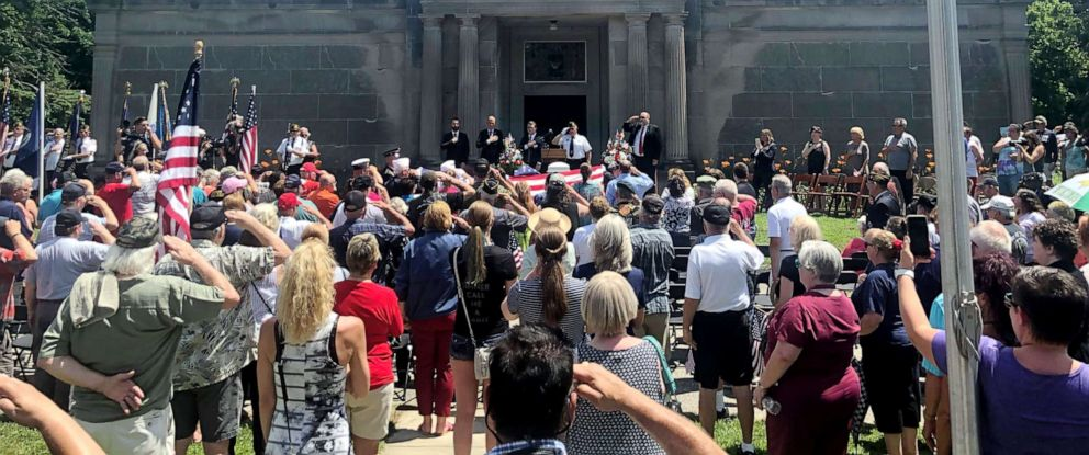PHOTO: Thousands show up to honor the life of Wayne Wilson, a Vietnam veteran who passed away May 28.