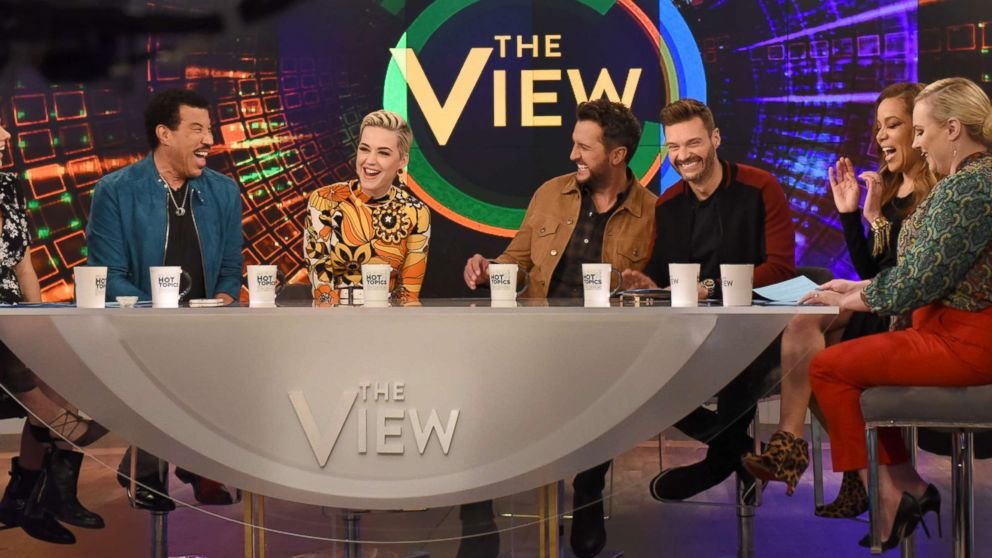 """Lionel Richie, Katy Perry, Luke Bryan, and Ryan Seacrest, March 5, 2019, on ABC's """"The View."""""""