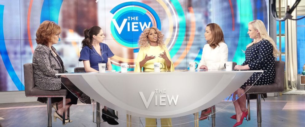 """PHOTO: Mary J. Blige discusses discusses the impacts of pitting women against each other in the industry on """"The View"""" Feb. 18, 2019"""