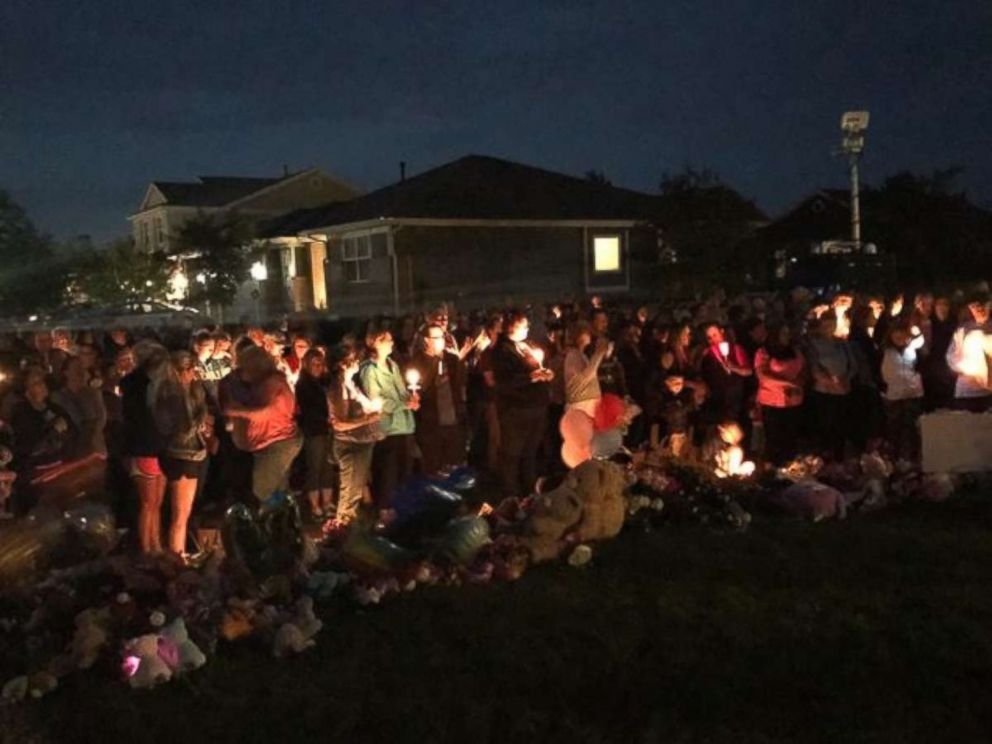 Hundreds attended a candlelight vigil for Shanann Watts and her two daughters on Friday night, Aug. 17, 2018.