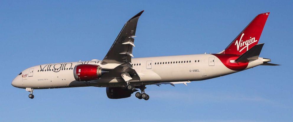 PHOTO: A Virgin Atlantic Airways Boeing 787-9 Dreamliner is seen landing at London Heathrow International Airport, Nov. 30, 2018.
