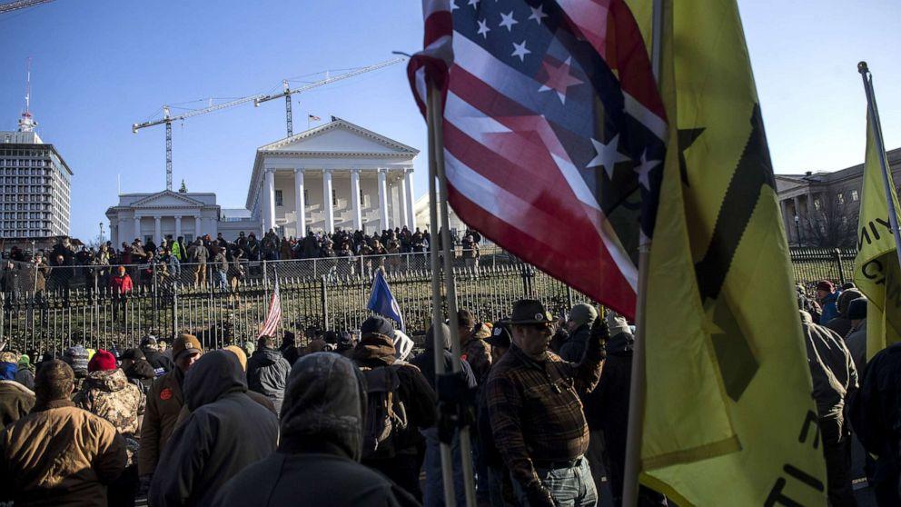 Tausende bewaffnete Demonstranten für Trumpf-unterstützt gun-Rallye