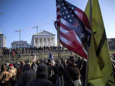 Thousands of armed protesters turn out for Trump-supported gun rally