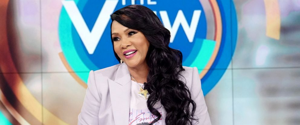"""PHOTO: Vivica A. Fox appears on """"The View"""" to discuss her dating life, 2020 election, and new Lifetime film series """"Wrong,"""" July 9, 2019."""