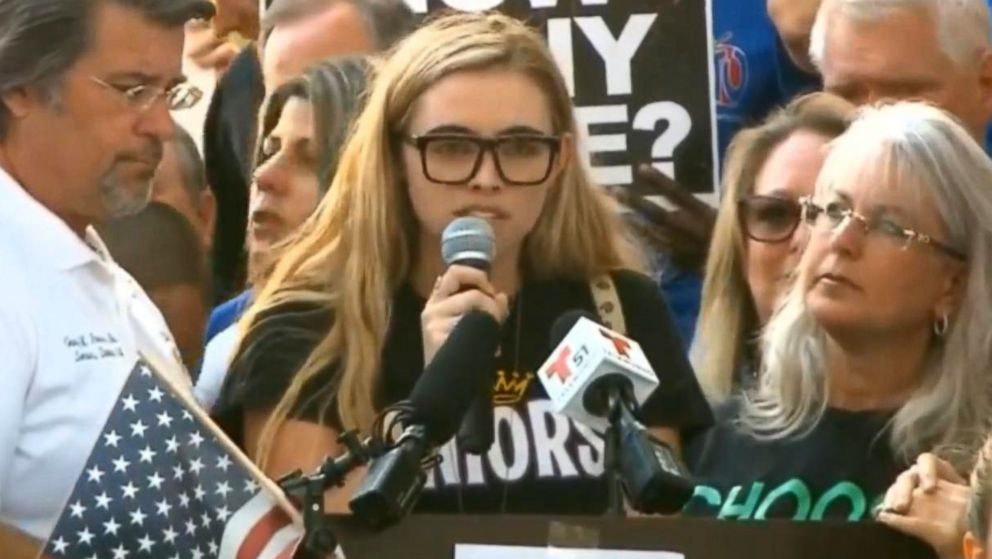 Teen survivors of the Florida high school shooting rallied a passionate crowd with calls for gun control in Fort Lauderdale on Saturday.