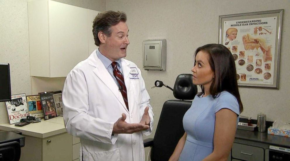 PHOTO: Dr. Erich Voigt discusses how he saw a lump on a womans throat while watching HGTV and it turned out to be Thyroid cancer in an interview with ABC News Eva Pilgrim.