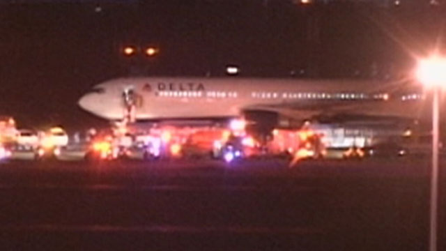 PHOTO: A Delta flight headed to Madrid returned to JFK after takeoff Thursday, July 12, 2012, after suspicious wires were noticed on board by Federal Air Marshals.